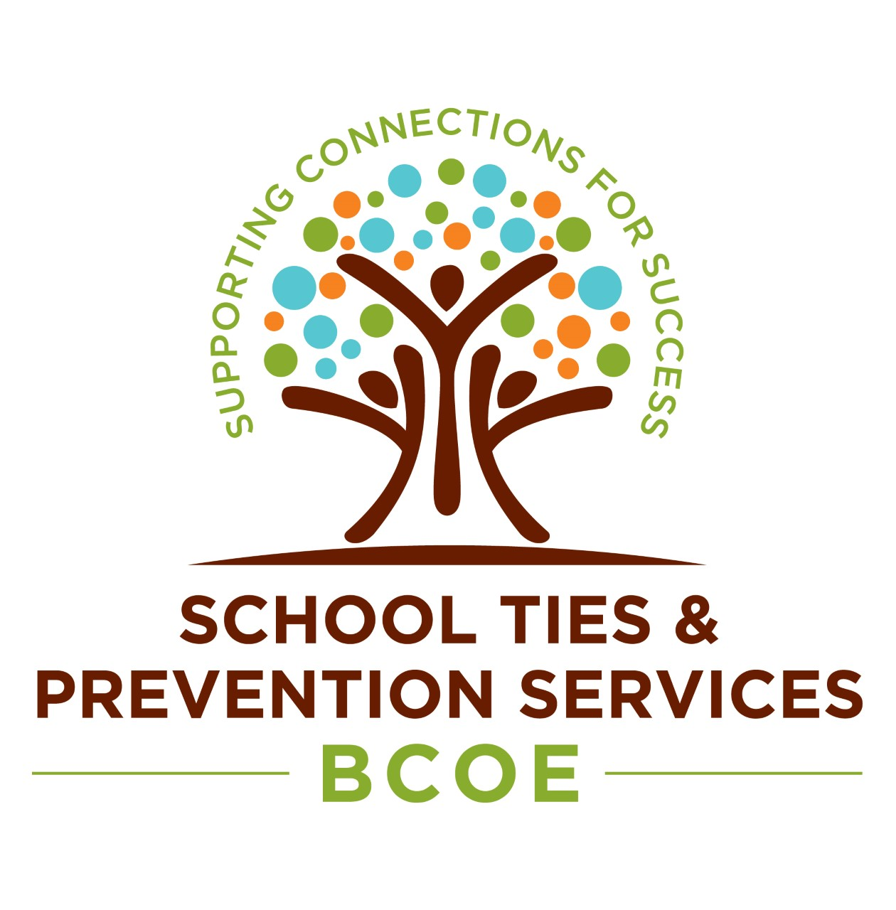 School Ties & Prevention Services BCOE Logo