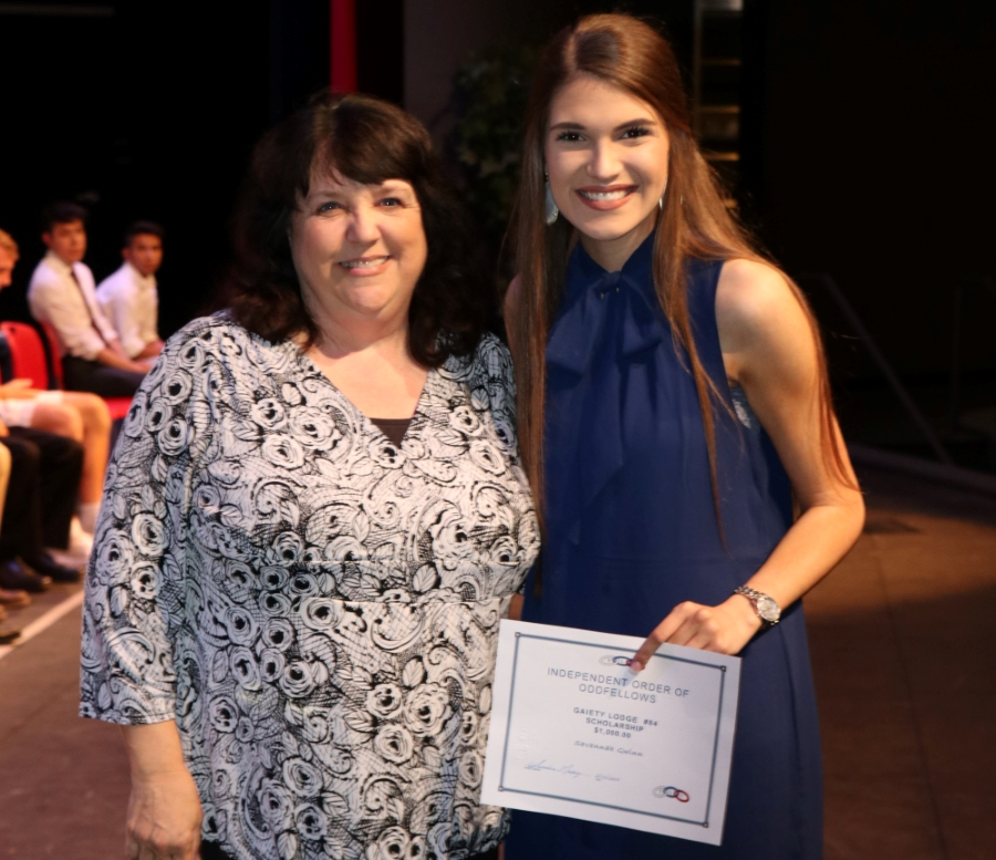 Scholarship Recipient Savanna Gwinn