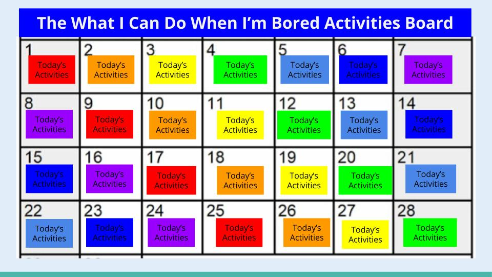 Bored Activities Board