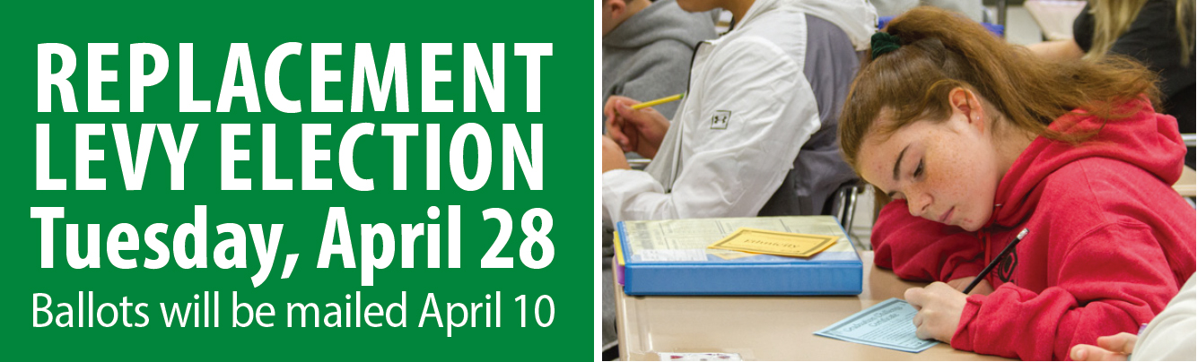 Woodland Public Schools' Replacement Levy election is Tuesday, April 28 with ballots sent on April 10