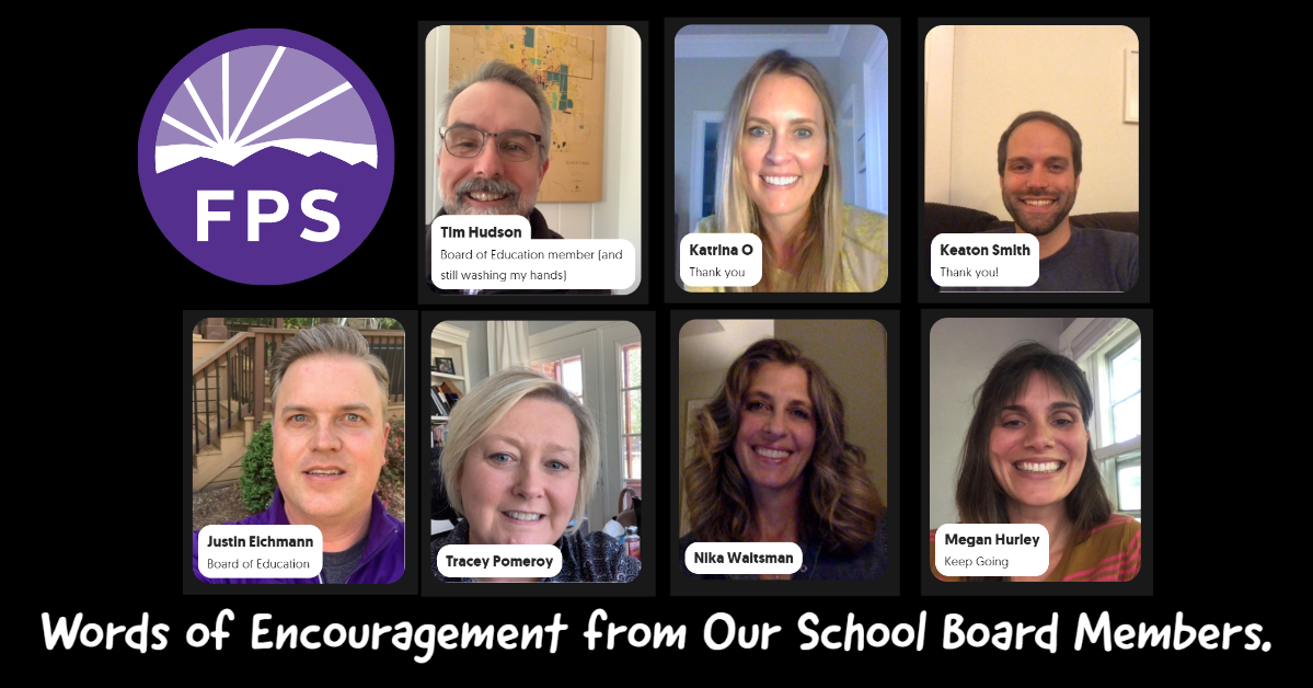Words of Encouragement from the Fayetteville Public Schools School Board Members - Click here!