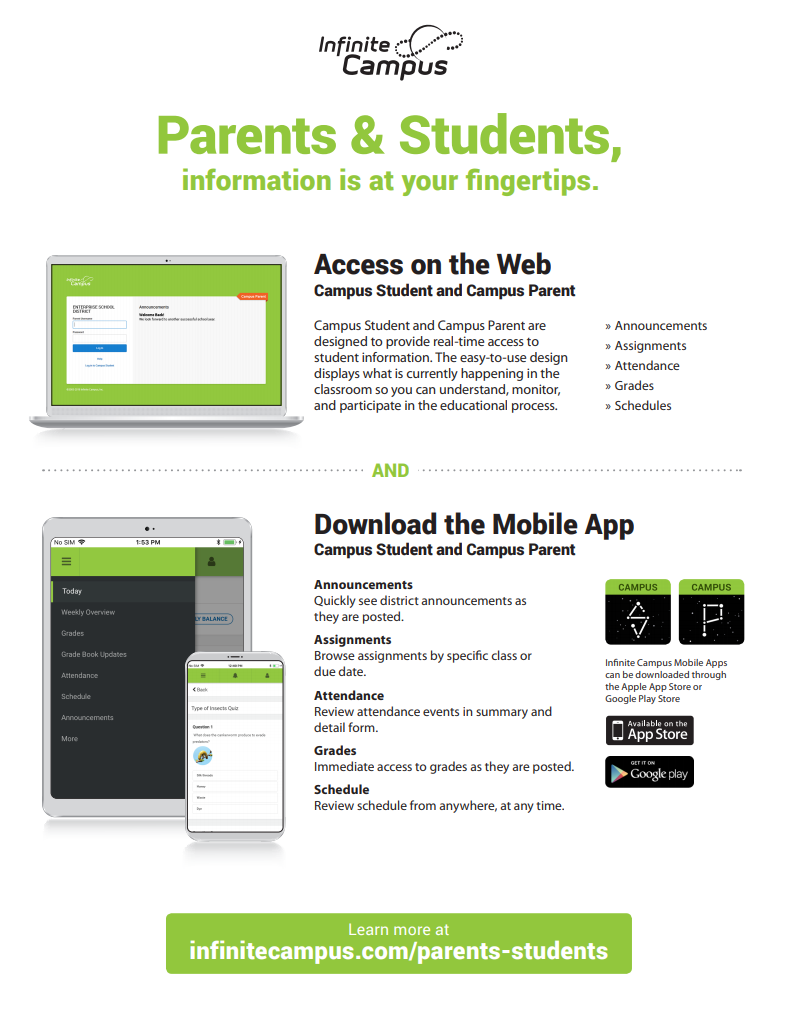Infinite campus mobile flyer