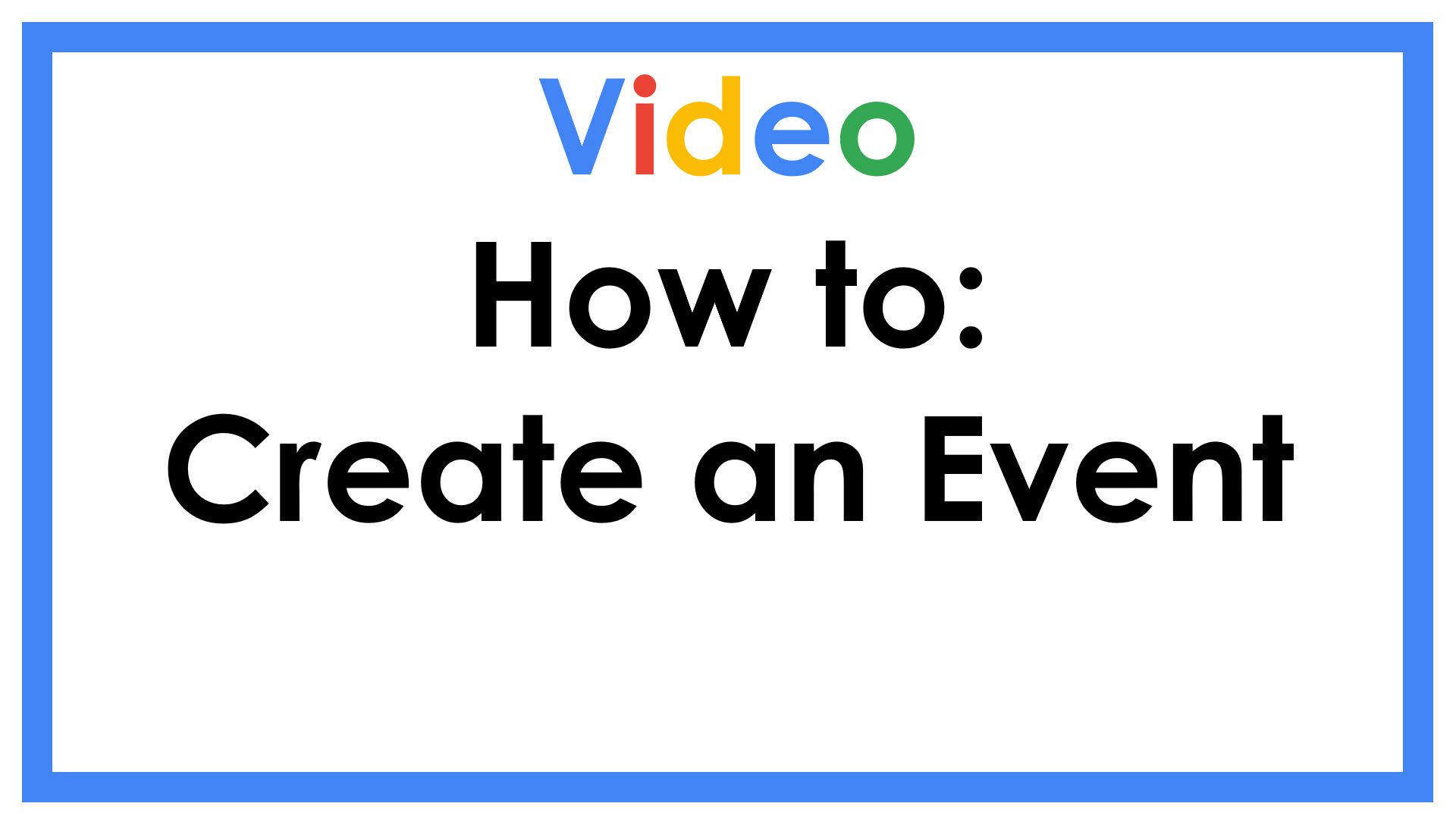 How to Create an Event
