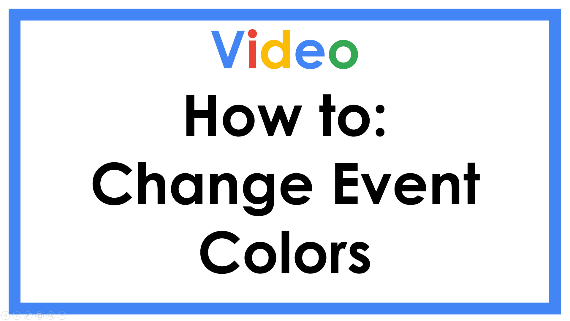 How to Change Event Colors