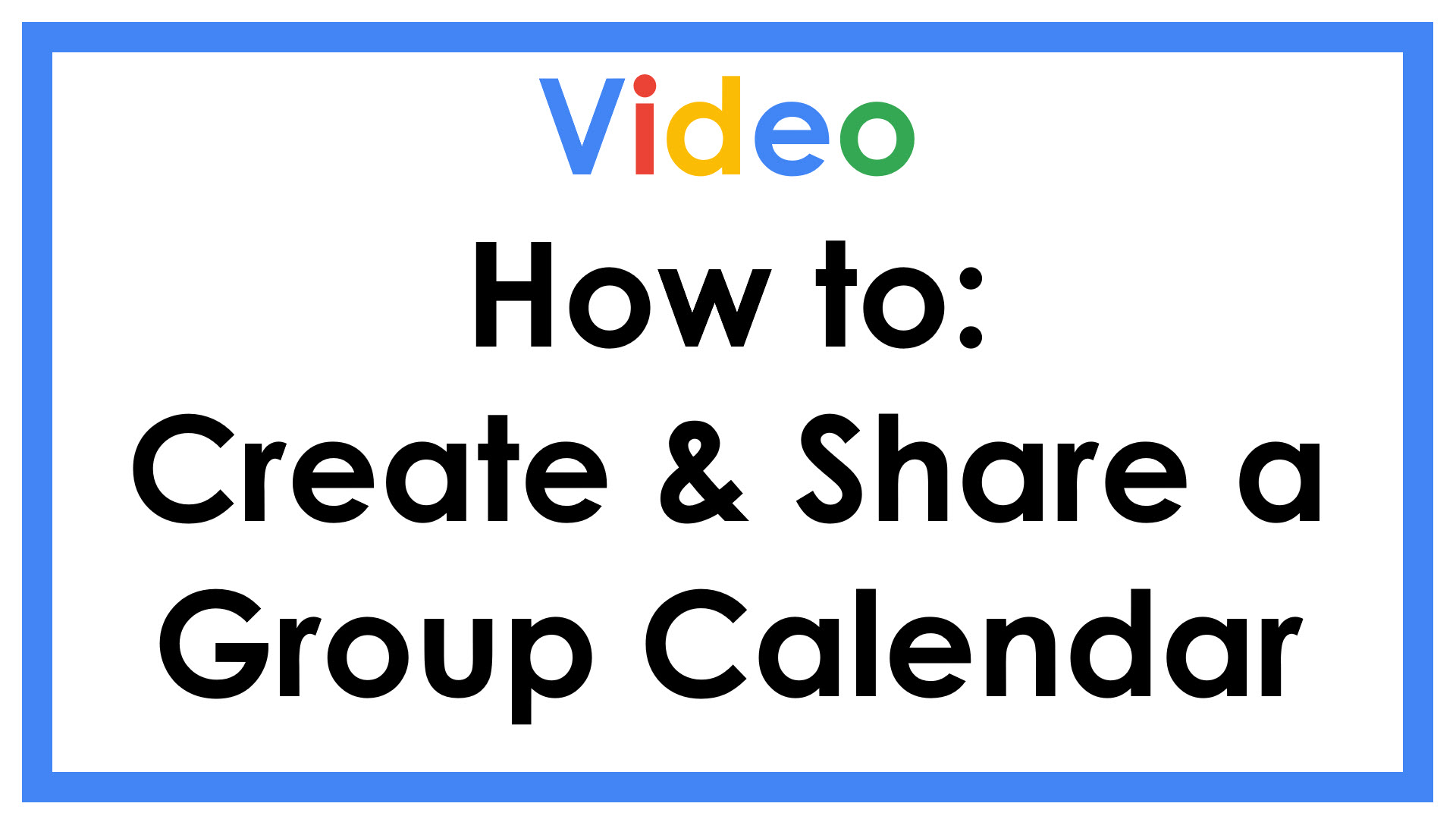 How to Create & Share a Group Calendar