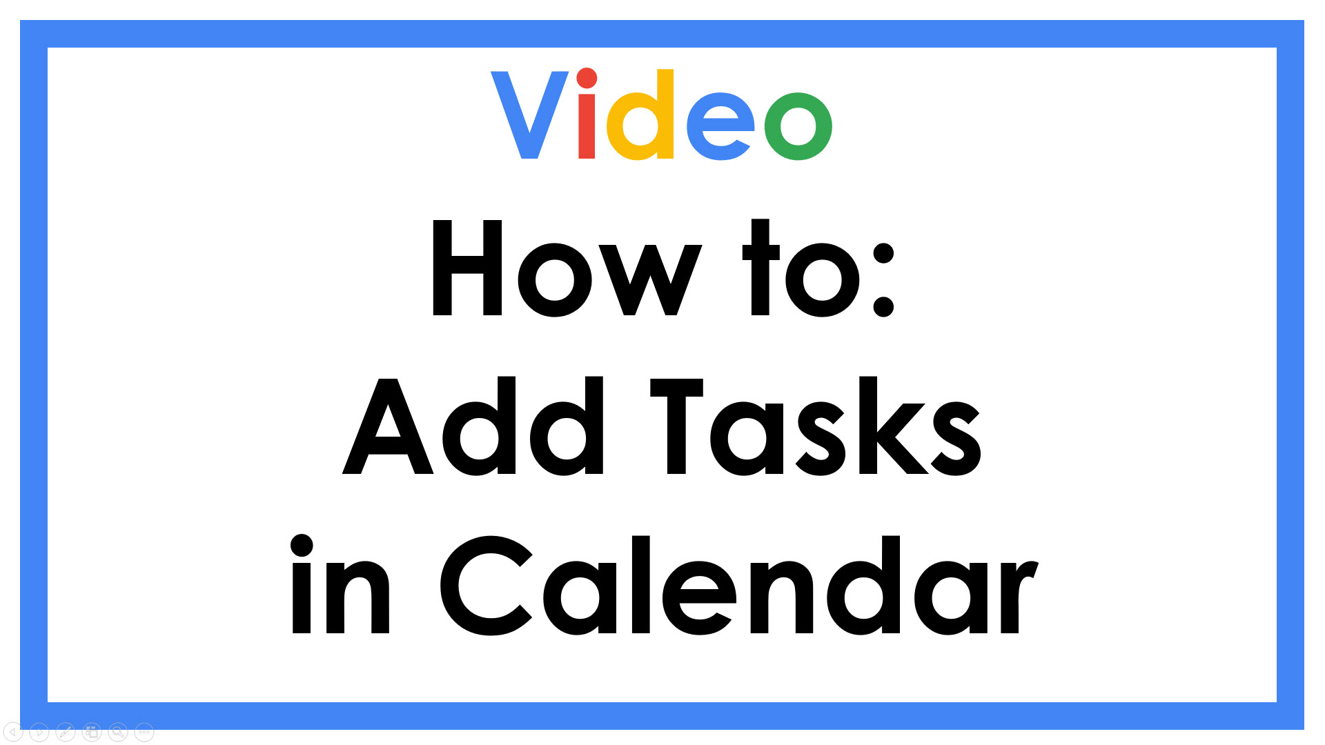 How to Add Tasks in Calendar