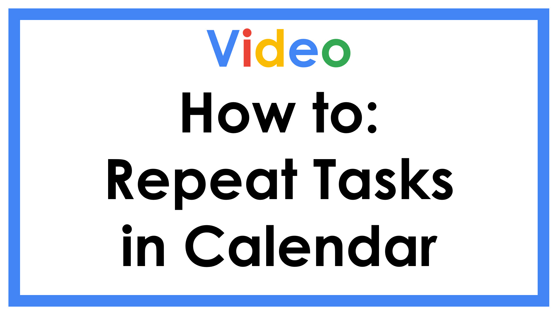 How to Repeat Tasks in Calendar