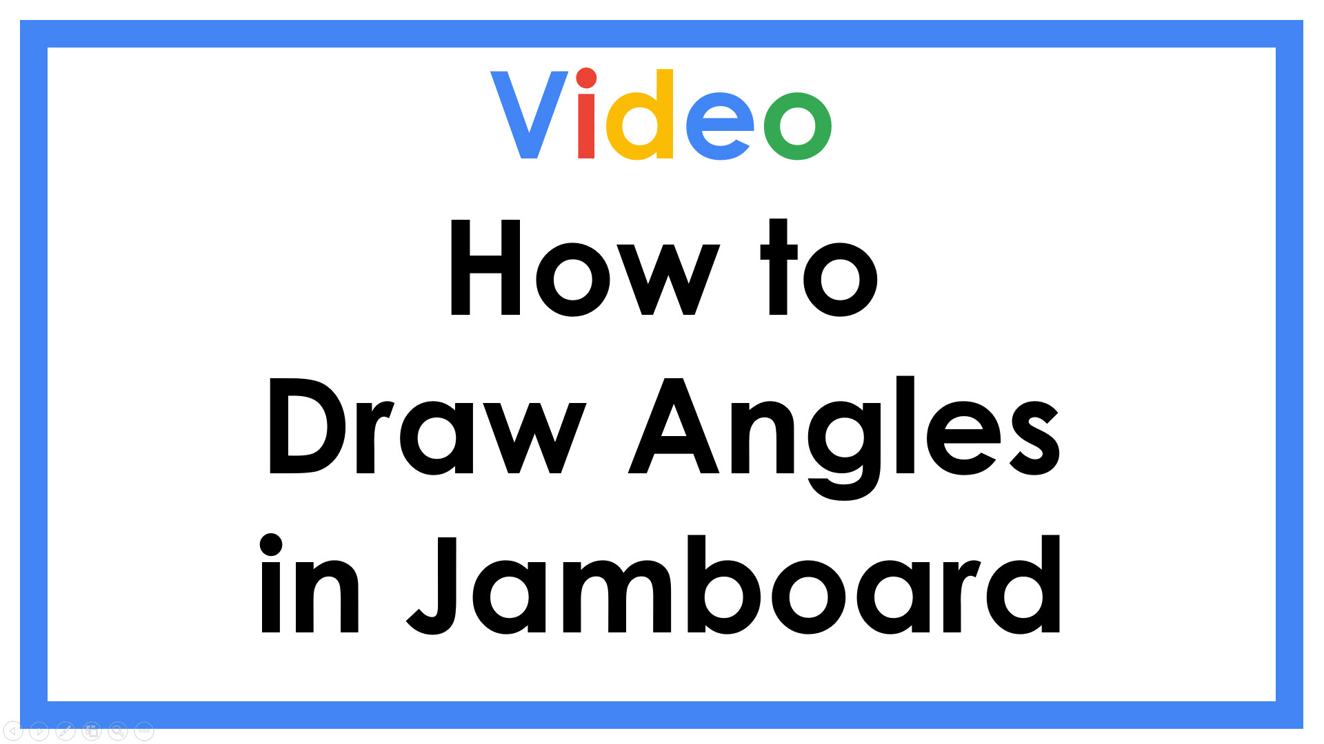 Drawing angles in Jamboard