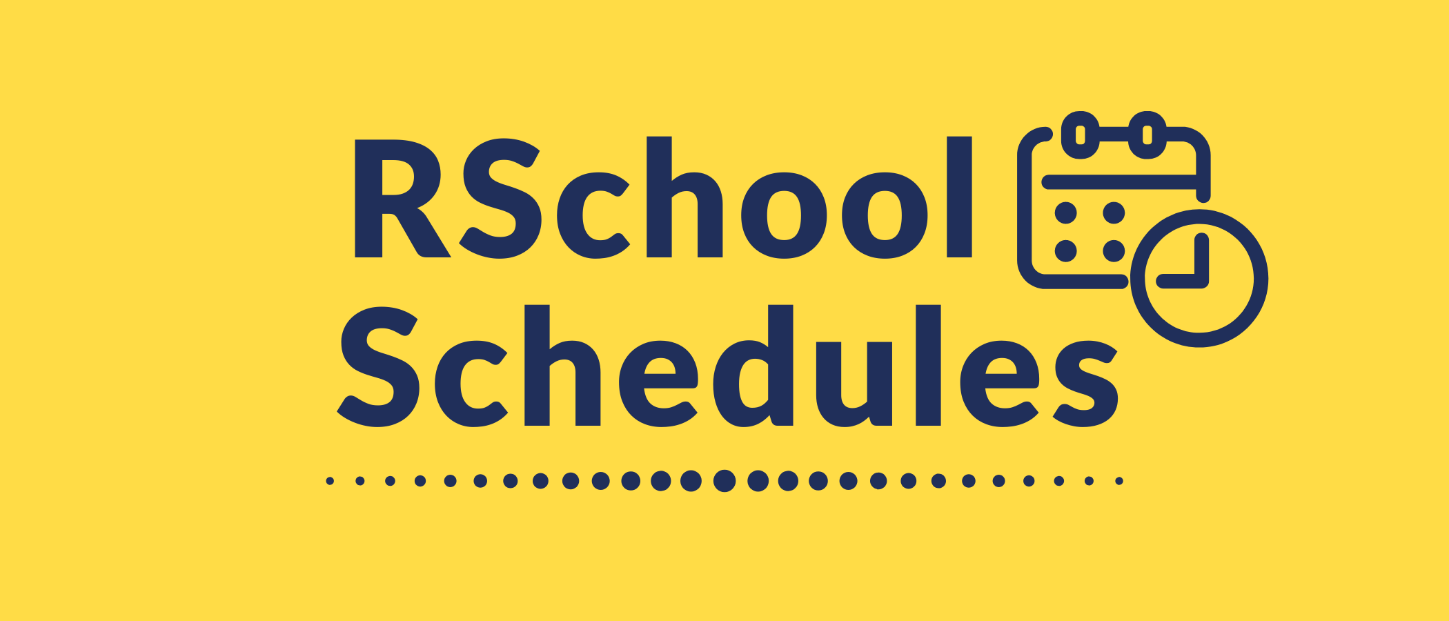 R School Schedules