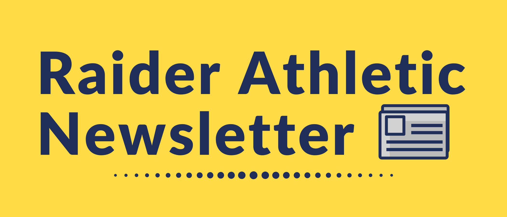 Raider Athletic Newsletter