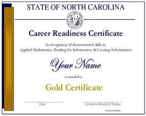 The Career Readiness Certification (CRC) certificate