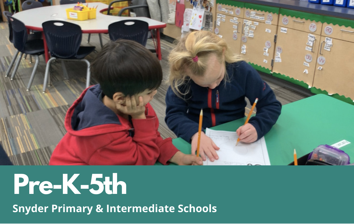 Pre-K - 5 Snyder Primary and Intermediate Schools