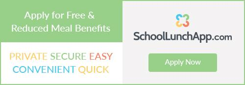 A banner that has a link to School Lunch App
