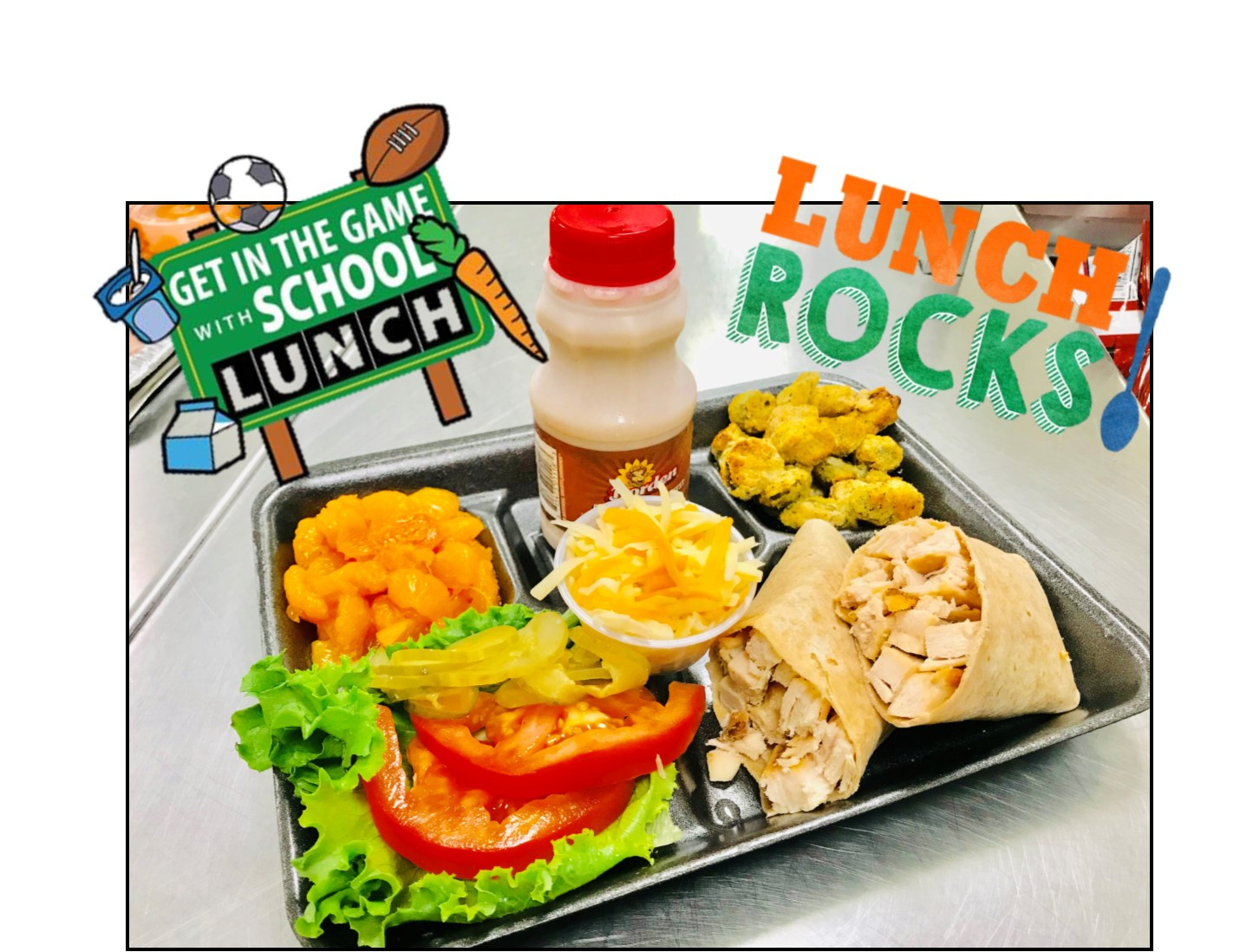 School Lunch tray with wrap