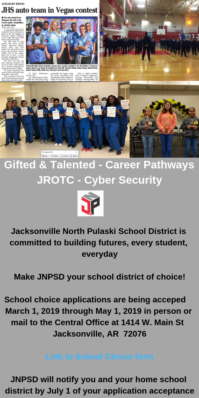 Programs offered at JNPSD
