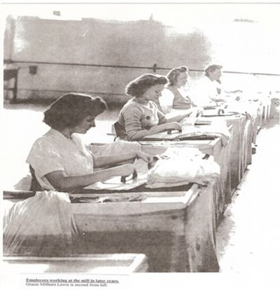 Women ironing at the Factory