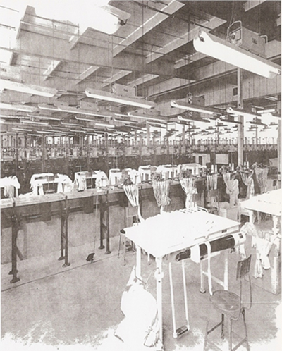 Photo inside the factory