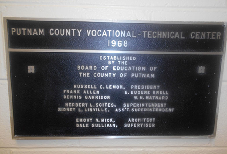 Dedication plaque dated 1968