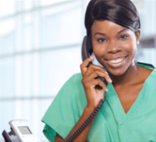 Medical Assistant answering phone