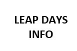 LEAP DAY INFO