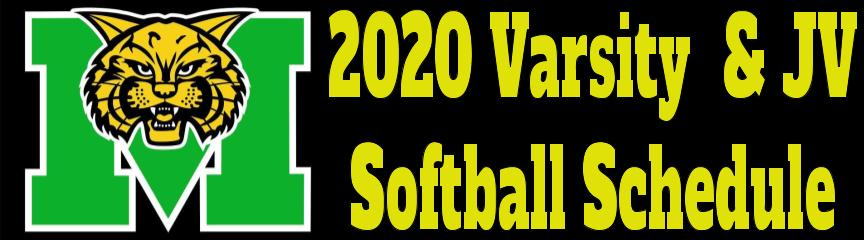 2020 Varsity & JV Softball Schedule