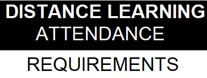 Distance Learning Attendance Requirements