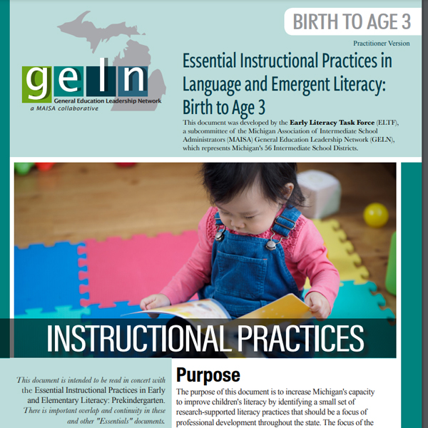 Birth-3 Literacy Essentials