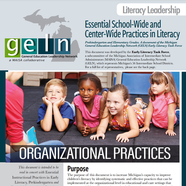 School-Wide, Center-Wide Literacy Essentials